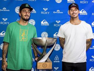 Medina tenta o bicampeonato, e Filipe Toledo luta pelo inédito título mundial de surfe no Havaí