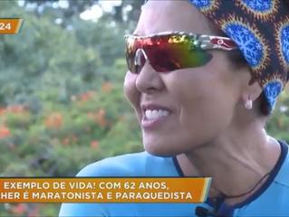 Mulher de 62 anos é exemplo em aventura e esportes radicais