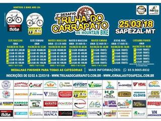 Sorrisenses participam do 2º Desafio Trilha do Carrapto de Mountain Bike, em Sapezal