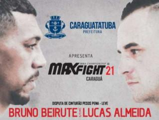 Superluta entre campeões será grande atração do Max Fight 21