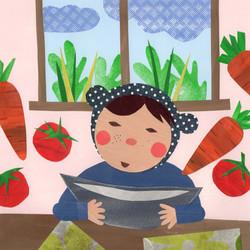 My Little Girl | Paper Collage Illustration ©Cécile Kranzer
