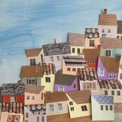 Cecile Kranzer Paper Collage Alsace