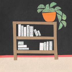 Books | Paper Collage Illustration ©Cécile Kranzer