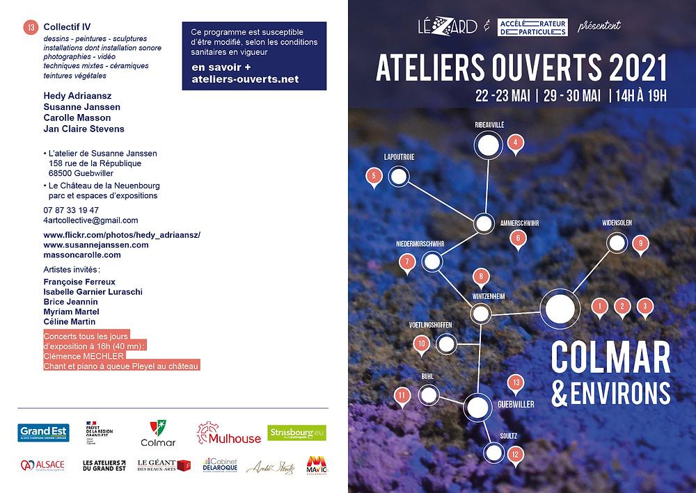 Liste des participants aux Ateliers Ouverts 2021 dans la région de Colmar