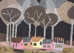 Small Town 8 | Paper Collage Illustration ©Cécile Kranzer
