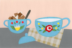 Breakfast | Paper Collage Illustration ©Cécile Kranzer
