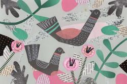Ducks | Paper Collage Illustration ©Cécile Kranzer