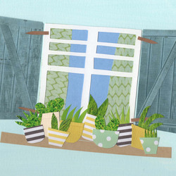 Window | Exterior | Paper Collage Illustration  ©Cécile Kranzer