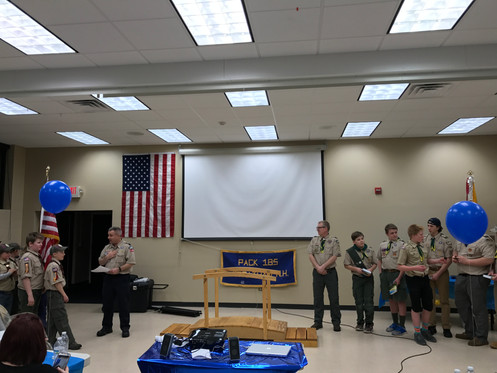 Blue and Gold crossover ceremony