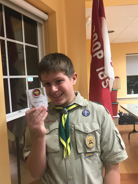 Receiving a Merit Badge