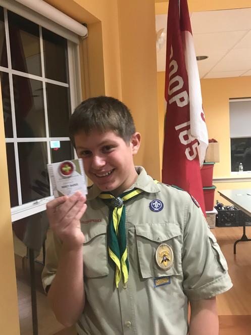 Receiving a Merit Badge