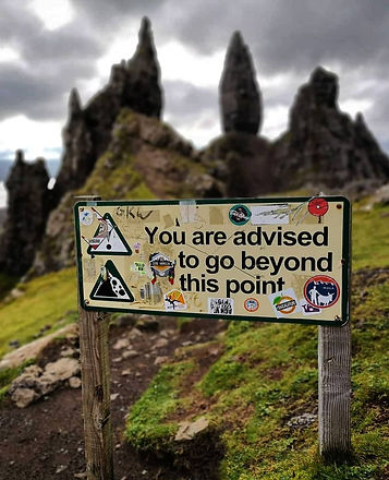 You are advised to go beyond this point