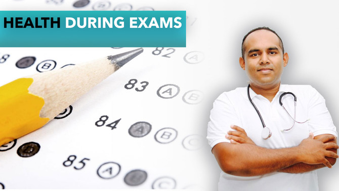 Health tips during exams period.