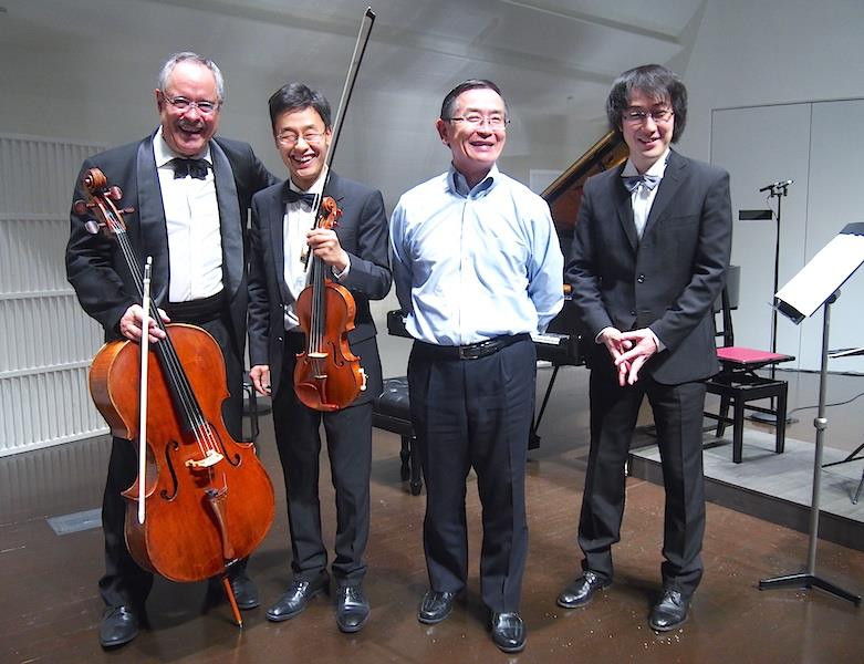 KANTA Trio and Mr. Munetsugu 2018 Oct. at Munetsugu hall