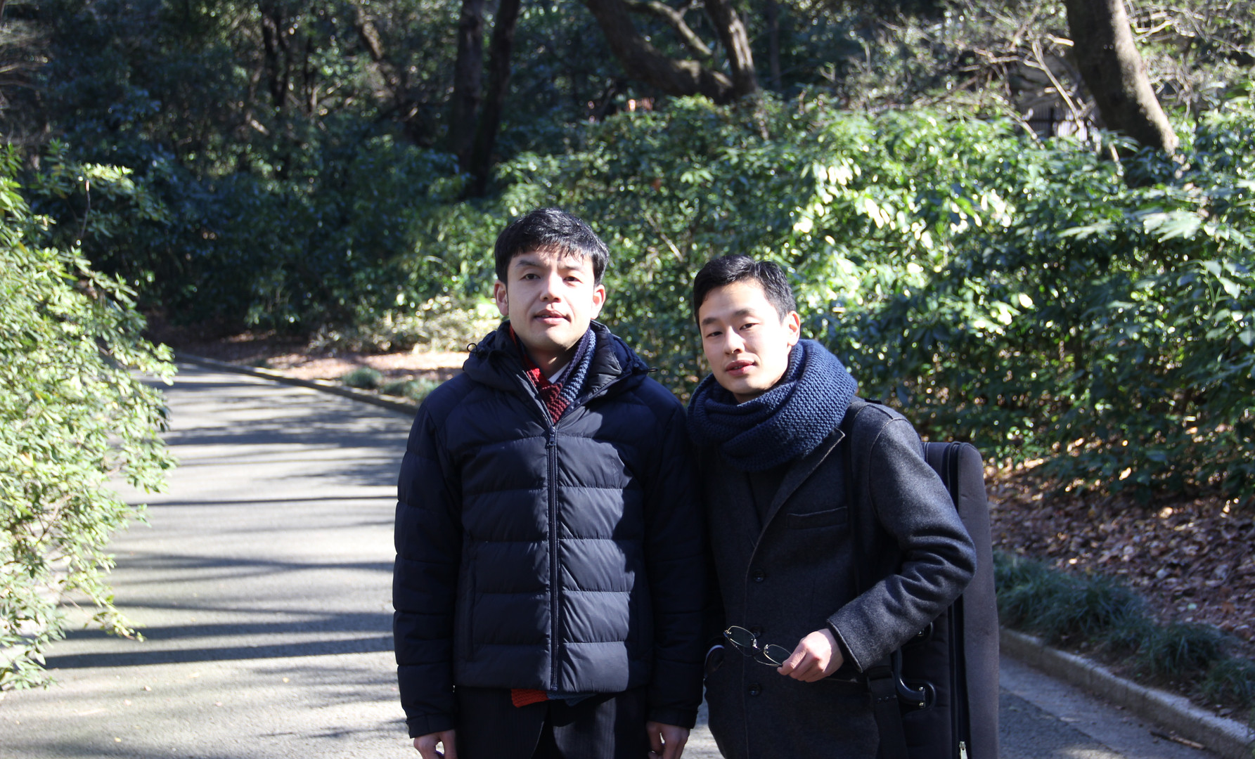 With my best friend Yuske Tagaya, at Shinjyuku Gyoen Park