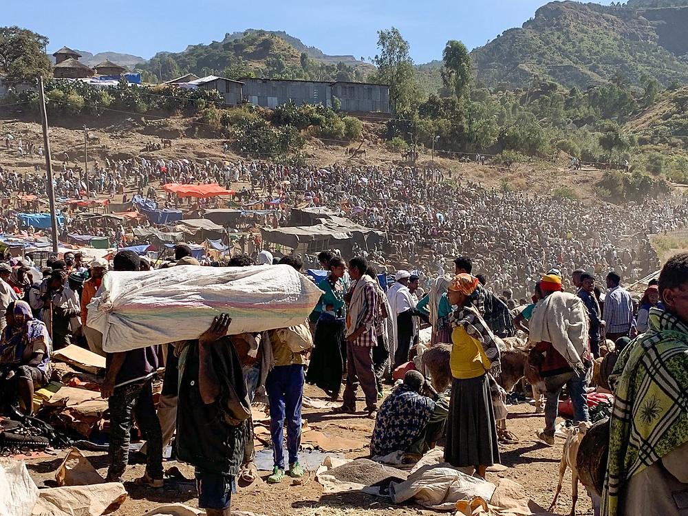 Pilgrim Crowd Lalibela Ethiopia
