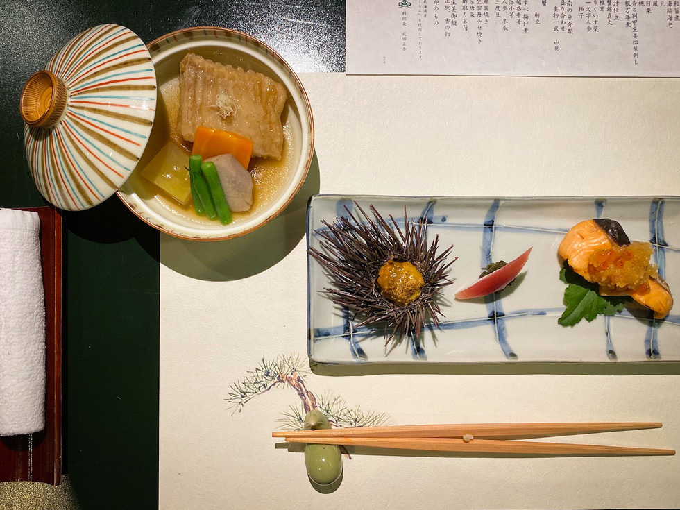 Table Settings at Seigo Narita Kaiseki, Japan
