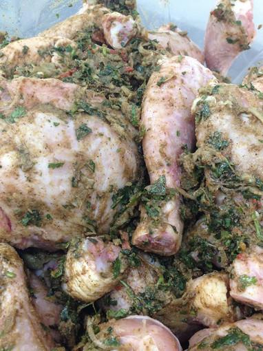 Chicken Marinated in Garlic Oil & Herbs