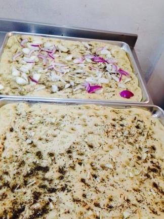 Rosemary, Red Onion & Garlic Focaccia