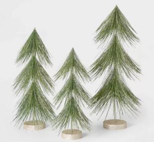 Unlit Tinsel Christmas Tree