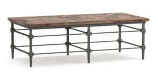 "Parquet 54"" Rectangular Reclaimed Wood Coffee Table"