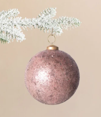 Textured Rose Ornaments