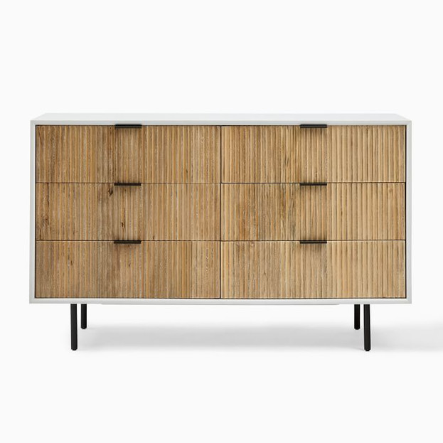 Quinn Wood 6-Drawer Dresser