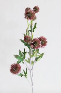Fake Thistle Flowers in Wine Burgundy