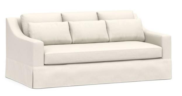 York Slope Arm Deep Seat Slipcovered Sofa