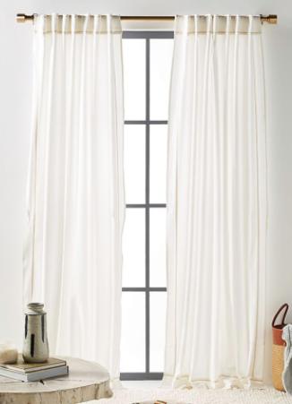 Birght White Mara Curtain