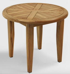 Round Teak Wood Hakui Lounging Accent Table