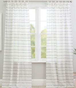 Roxy Stripe Sheer Curtain Panel