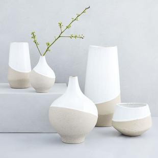 Half-Dipped Stoneware Vases