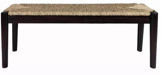 Black Seagrass Bench
