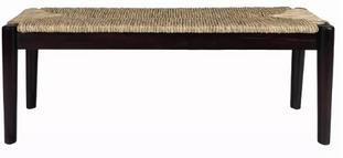 Black Seagrass Bench