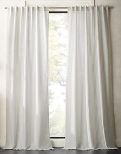White/Black Pinstripe Curtain Panel
