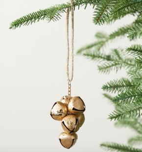 Golden Bells Ornament - Set of 3