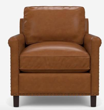 Tyler Roll Arm Leather Armchair