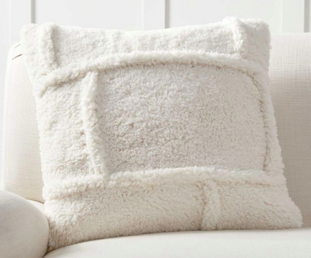 Patchwork Sherpa Pillow Cover