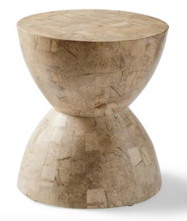 Hourglass Stone Accent Stool