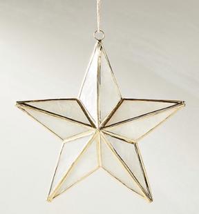 Capiz Star Ornament