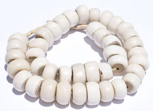 Large White Bone Beads
