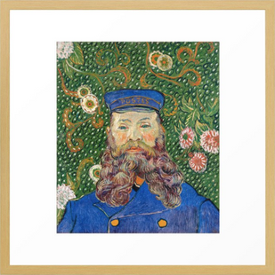 Portrait of the Postman Framed Art Print