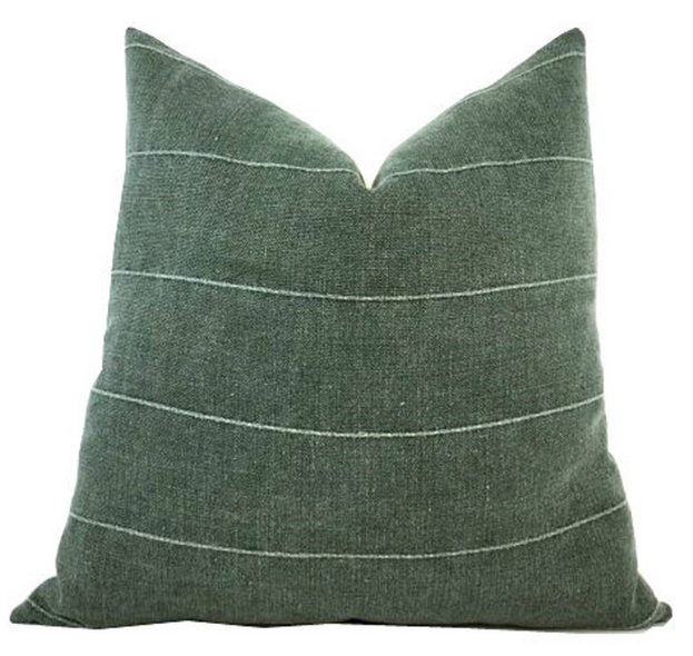 Green Vintage Pillow Cover