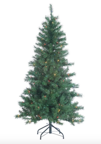 5ft Pre-Lit Multi-Colored Colorado Spruce Artificial Christmas Tree