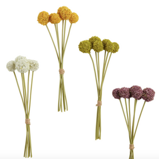 Mini Faux Spring Allium Bundles Set Of 4