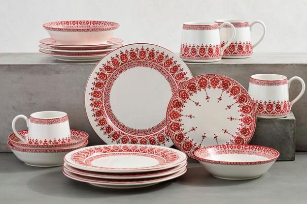 Tahoe Fair Isle Stoneware 16-Piece Dinnerware Set