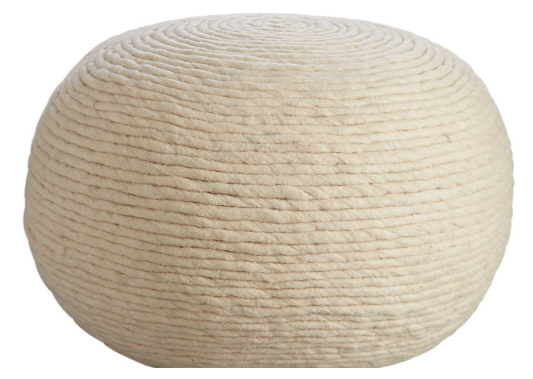 Wool Natural Pouf