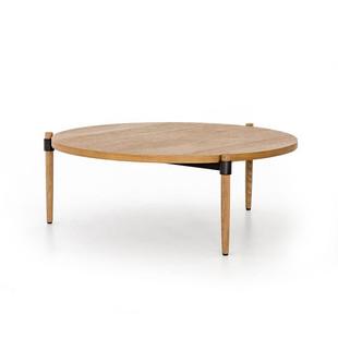 Oak & Iron Coffee Table
