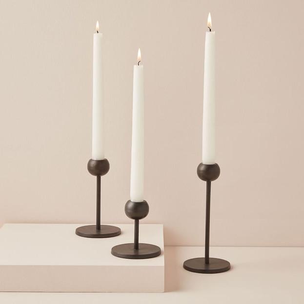 Modern Bronze Candleholders